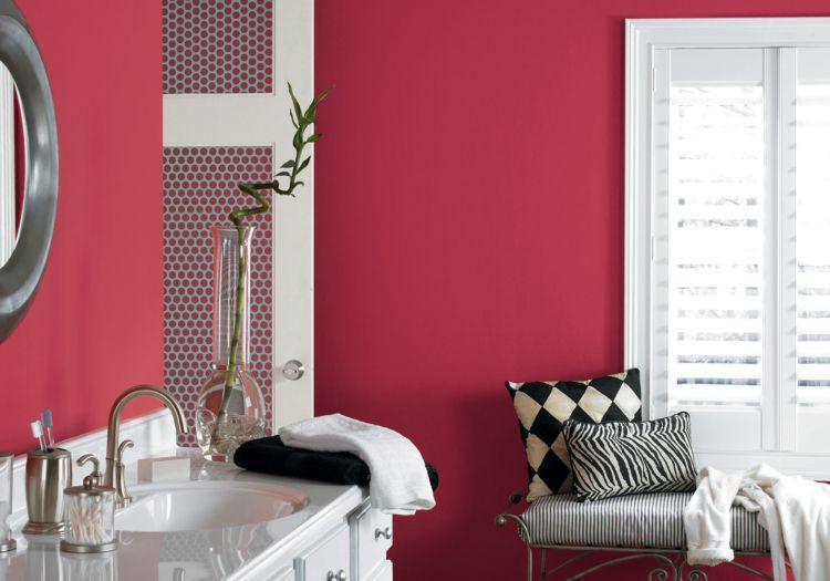wandfarbe beere badezimmer einrichten ideen Inneneinrichtung - badezimmer einrichten ideen