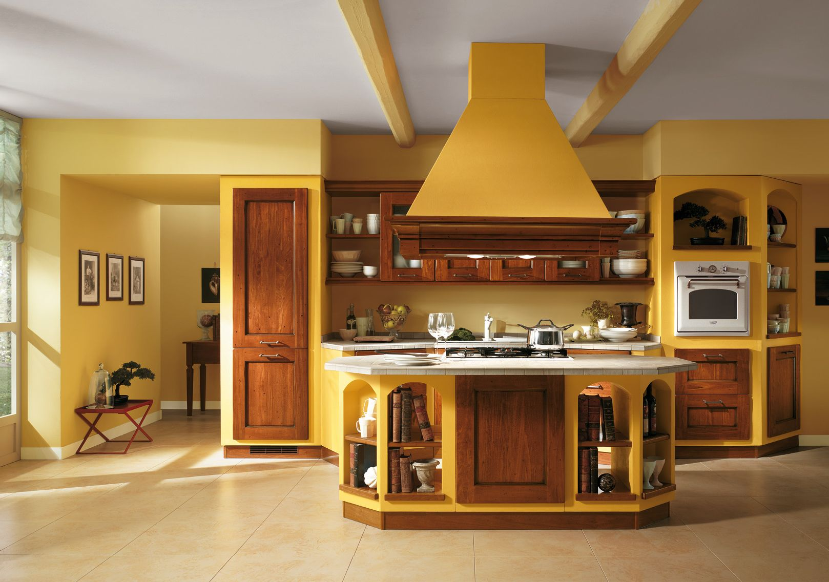 Italian kitchen color schemes for open interior design for Kitchen interior colour