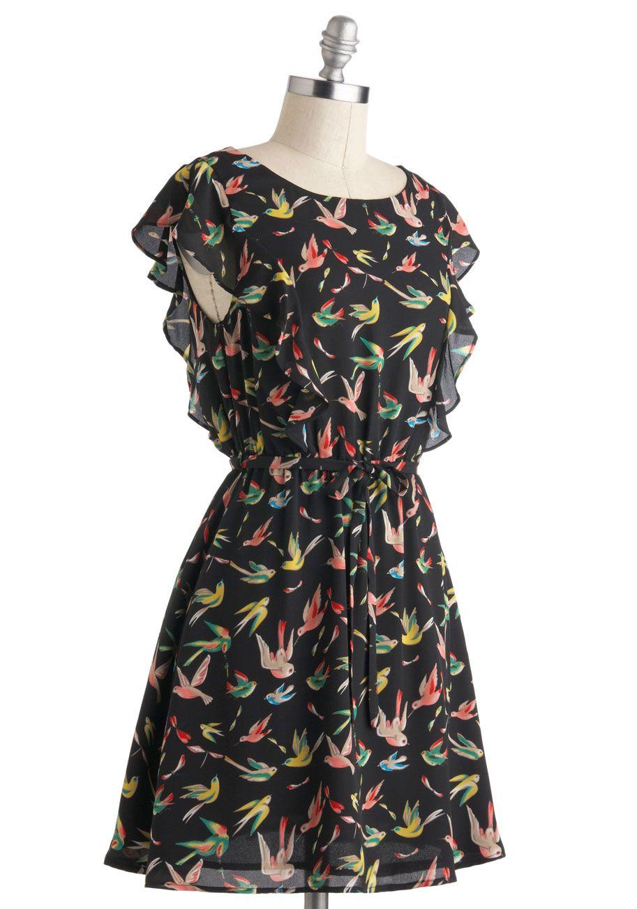 Lovely Little Birds Dress - Black 3a8a8cae7