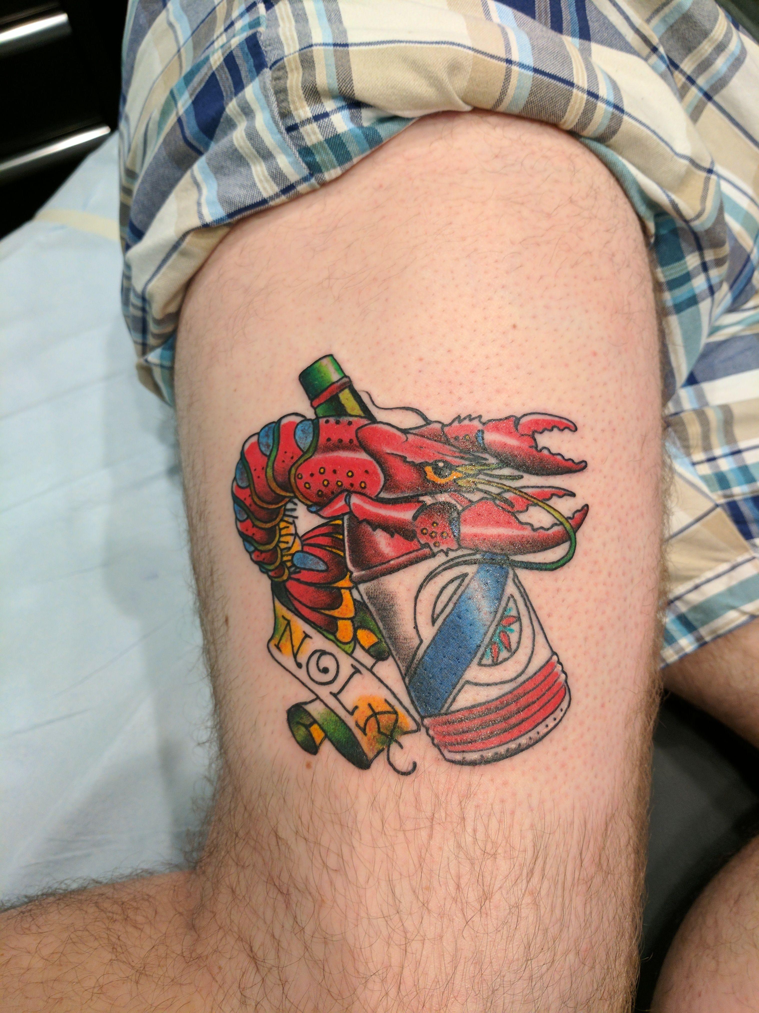 Nola crawfish electric ladyland tattoo nola tattoos