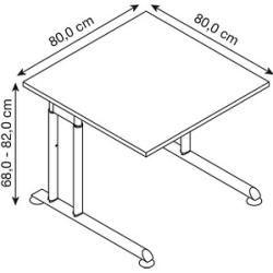 Photo of Hammerbacher Zs08 height-adjustable desk maple square HammerbacherHammerbacher