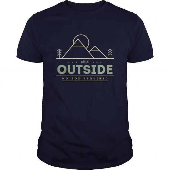 Think Outside T Shirts, Hoodies. Get it now ==► https://www.sunfrog.com/Outdoor/Think-Outside-Navy-Blue-Guys.html?57074 $22.99