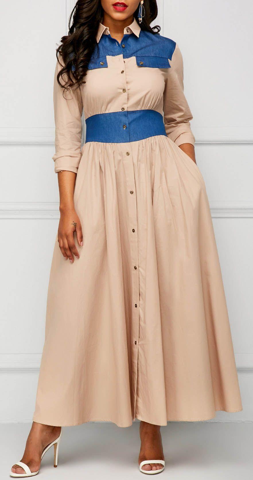 Long Sleeve Button Up Maxi Dress Date Night Pinterest Maxi