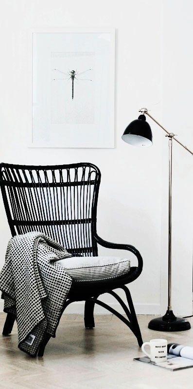 De zwarte stoel - Interieur blog | Pinterest - Rotan, Ikea en Slaapkamer