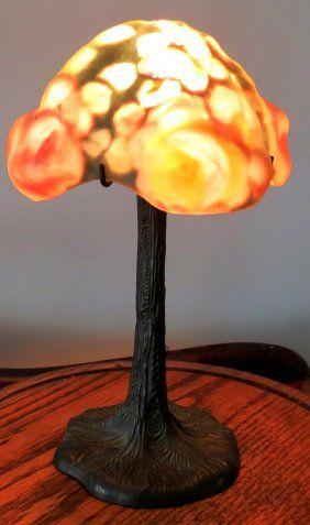 """Pairpoint Original Lamp Puffy Shade H: 12"""""""