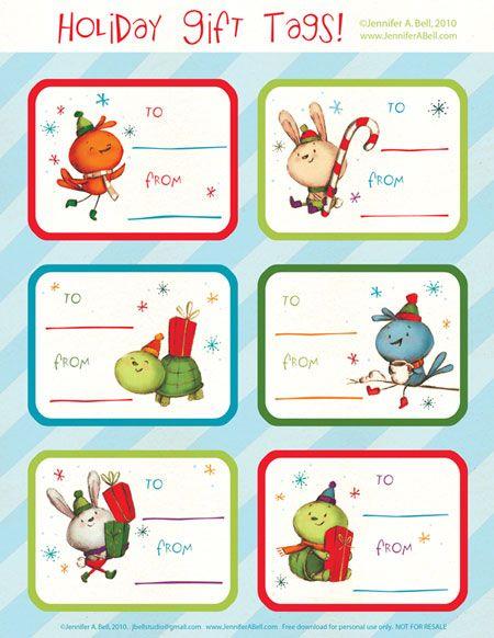 Etiquetas de regalo para Navidad | Para navidad, Regalos para y ...