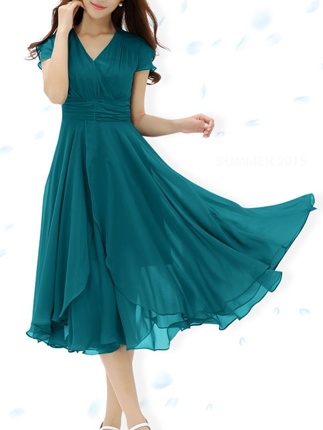 Buy V-Neck Hollow Out Plain Midi Chiffon Skater Dress online with cheap  prices and discover fashion Skater Dresses at Fashionmia.com. 947fbc412