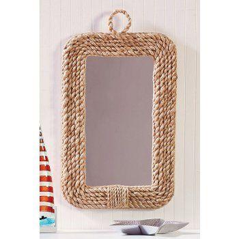 Rope Nautical Decor Mirror Coastal Mirrors Walls By The Sea Beach