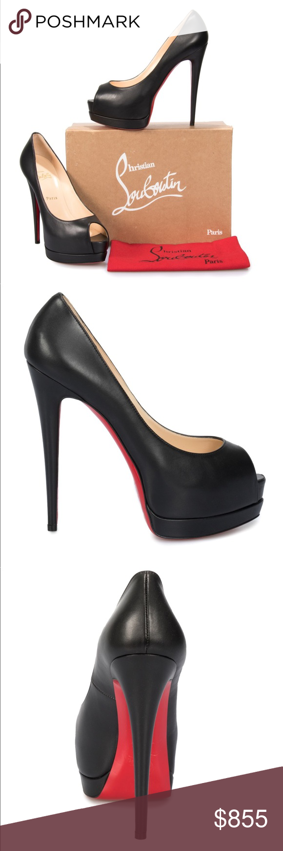 1a9fb4c16ab Christian Louboutin Palais Royal Authentic Christian Louboutin Palais  Royal. Gorgeous Black leather pumps. New comes with original box.