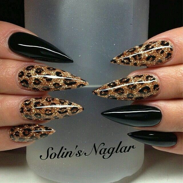 Black And Gold Nails Pinterest Easter Nail Nail And Stilettos