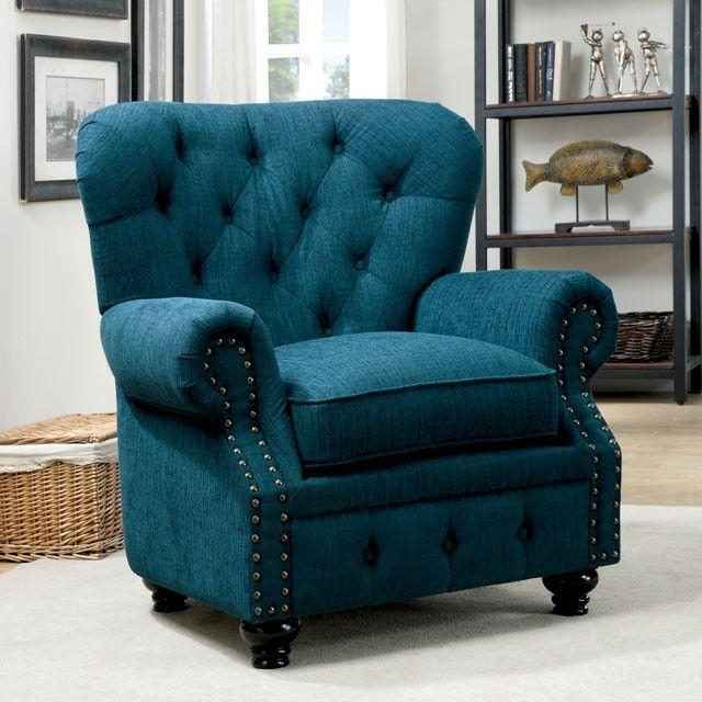 Surprising Dark Teal Fabric Accent Chair Cm 6269Tl Ch In 2019 Home Creativecarmelina Interior Chair Design Creativecarmelinacom