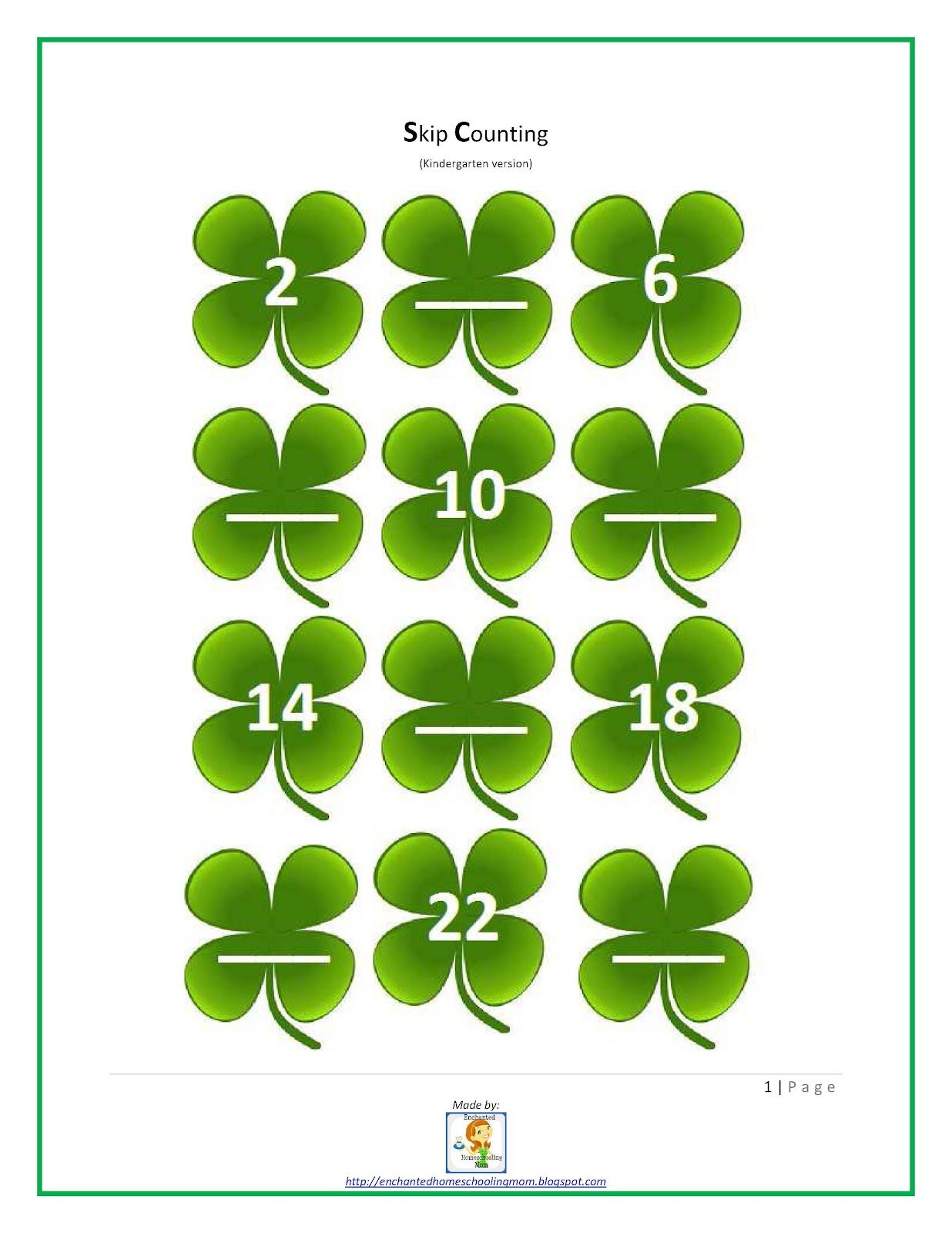 Enchanted Homeschooling Mom St Patrick S Day