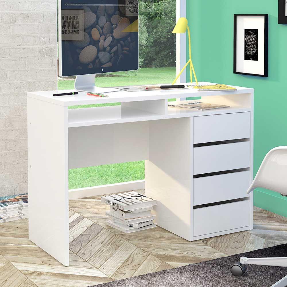 Schreibtisch büro modern  Hochglanz Schreibtisch in Weiß modern Jetzt bestellen unter: https ...