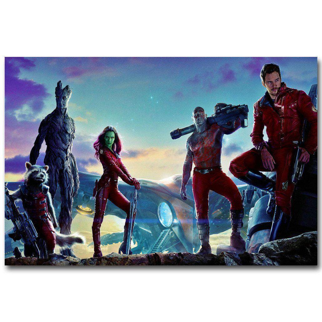 Guardians of The Galaxy Crew Shot Silk Poster Art