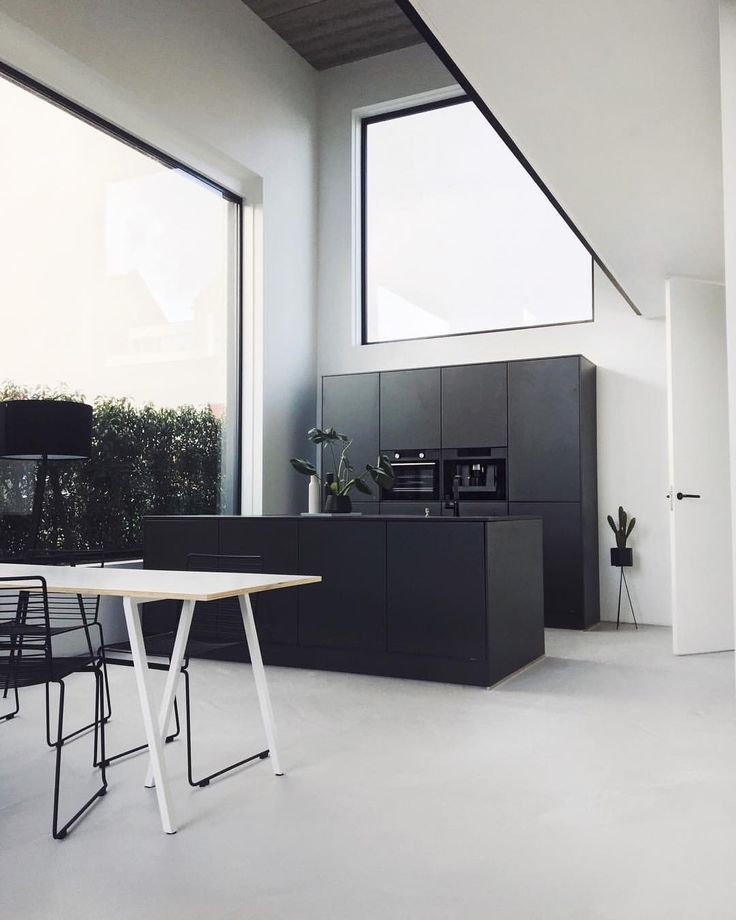 Monochrome Interior And Kitchen. Never Going To Be Out. | Monochrome  Einrichtung Und Küche