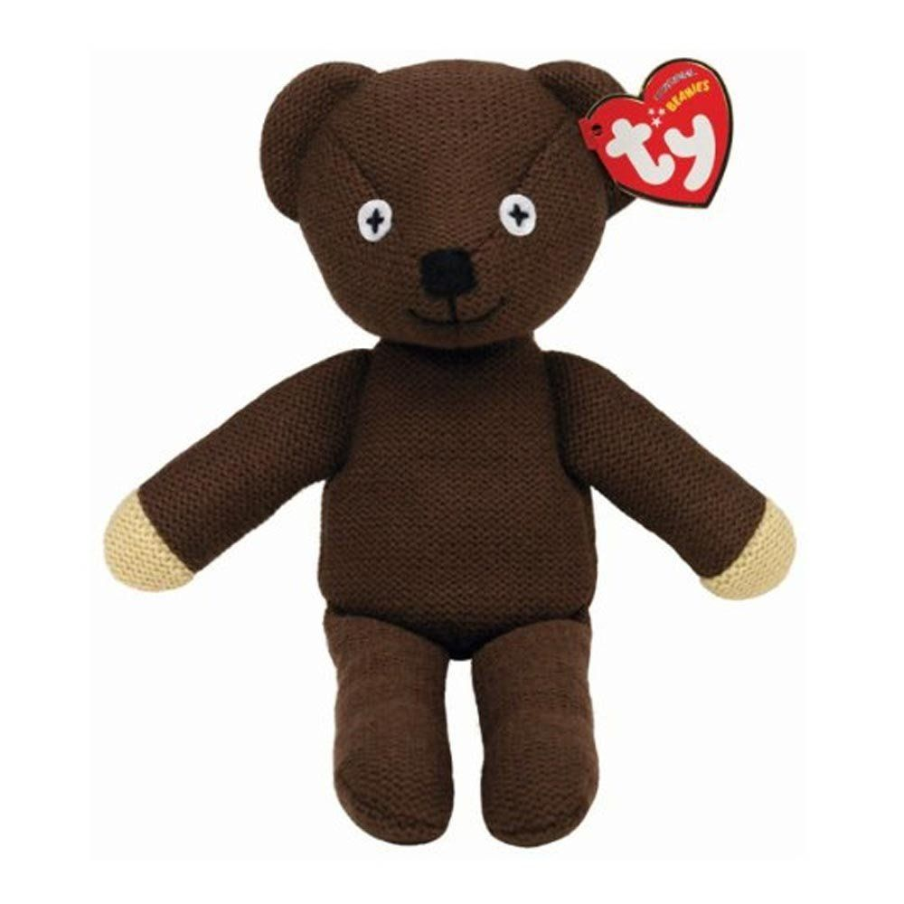 Amazon Com Ty Beanie Baby Mr Bean S Teddy Bear Uk