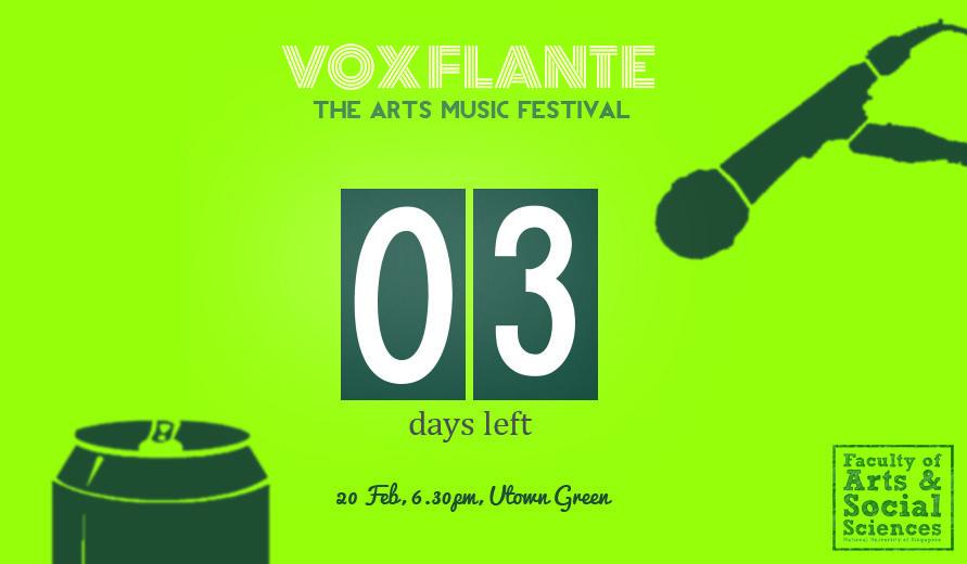 Vox Flante Countdown Poster 3 Art Music Music Festival Social Science