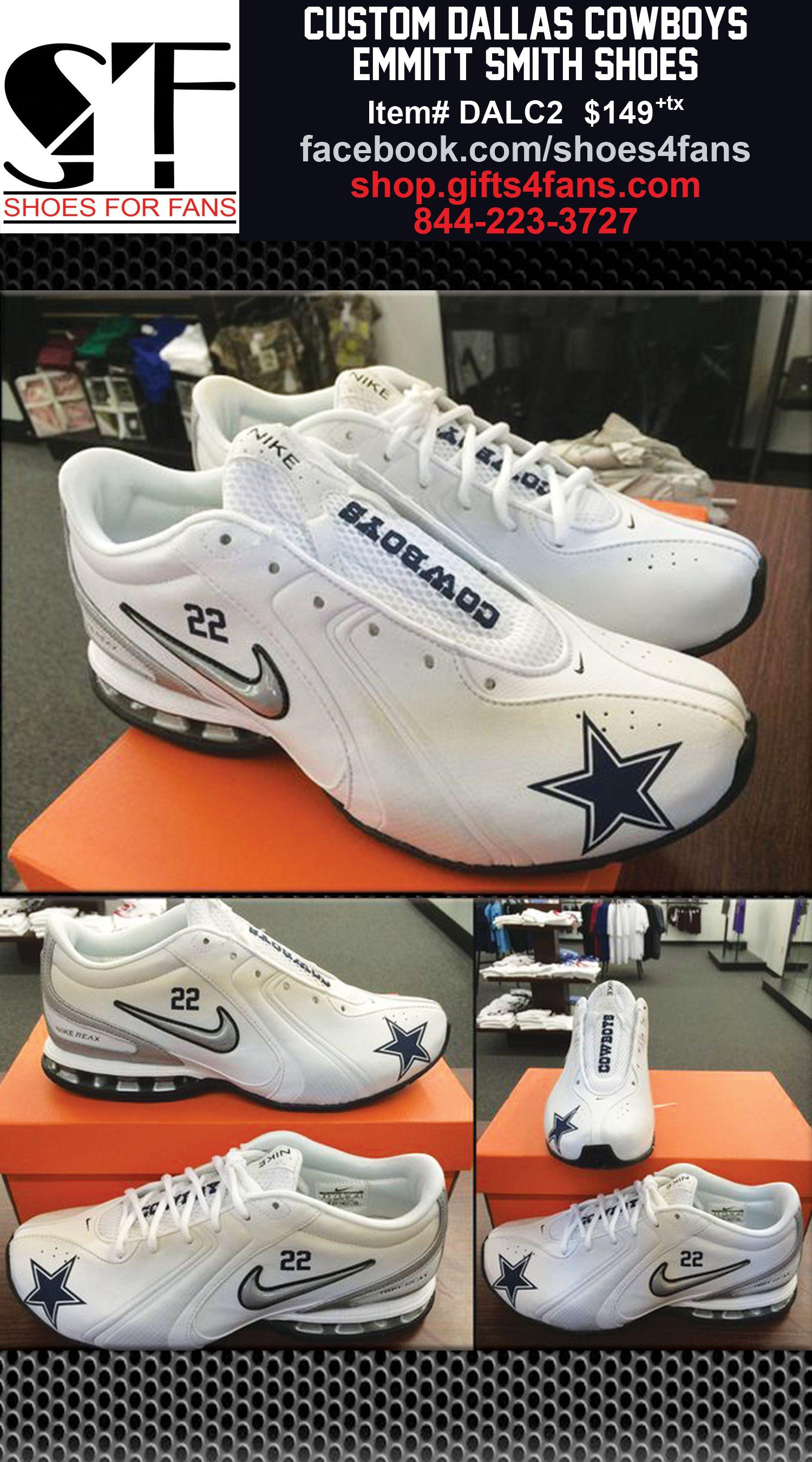 898612a7e6c602 ... Custom Dallas Cowboys Emmitt Smith Shoes. Order now!  shop.gifts4fans.com Nike Dallas Cowboys Sneakers ...