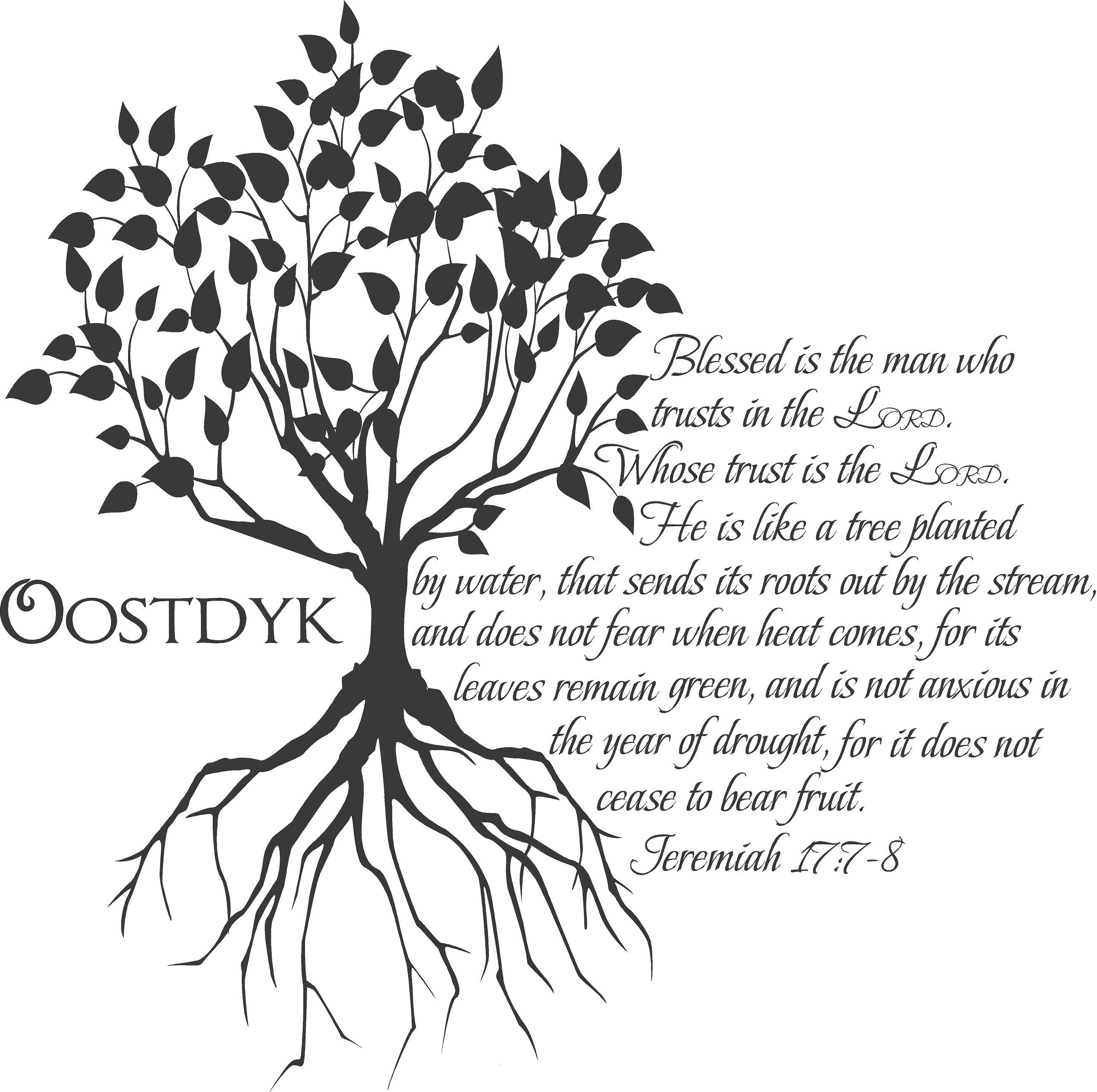 Tree Jeremiah 177 8 Replace Oostdyk With Our Last Name