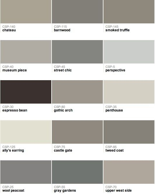 Por Benjamin Moore Paint Colors Officially Ushering Out The Tuscan Brown Trend And Welcoming New Gray
