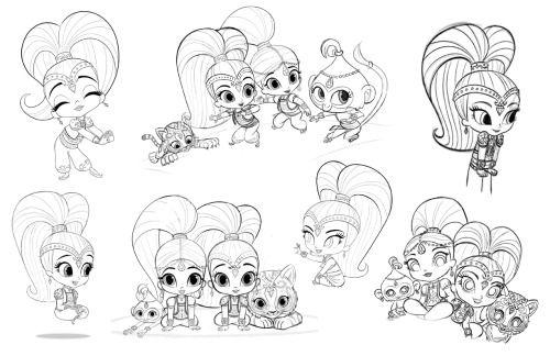 Shimmer & Shine | Olivia & Juliet | Pinterest | Dibujos and Shimmer ...