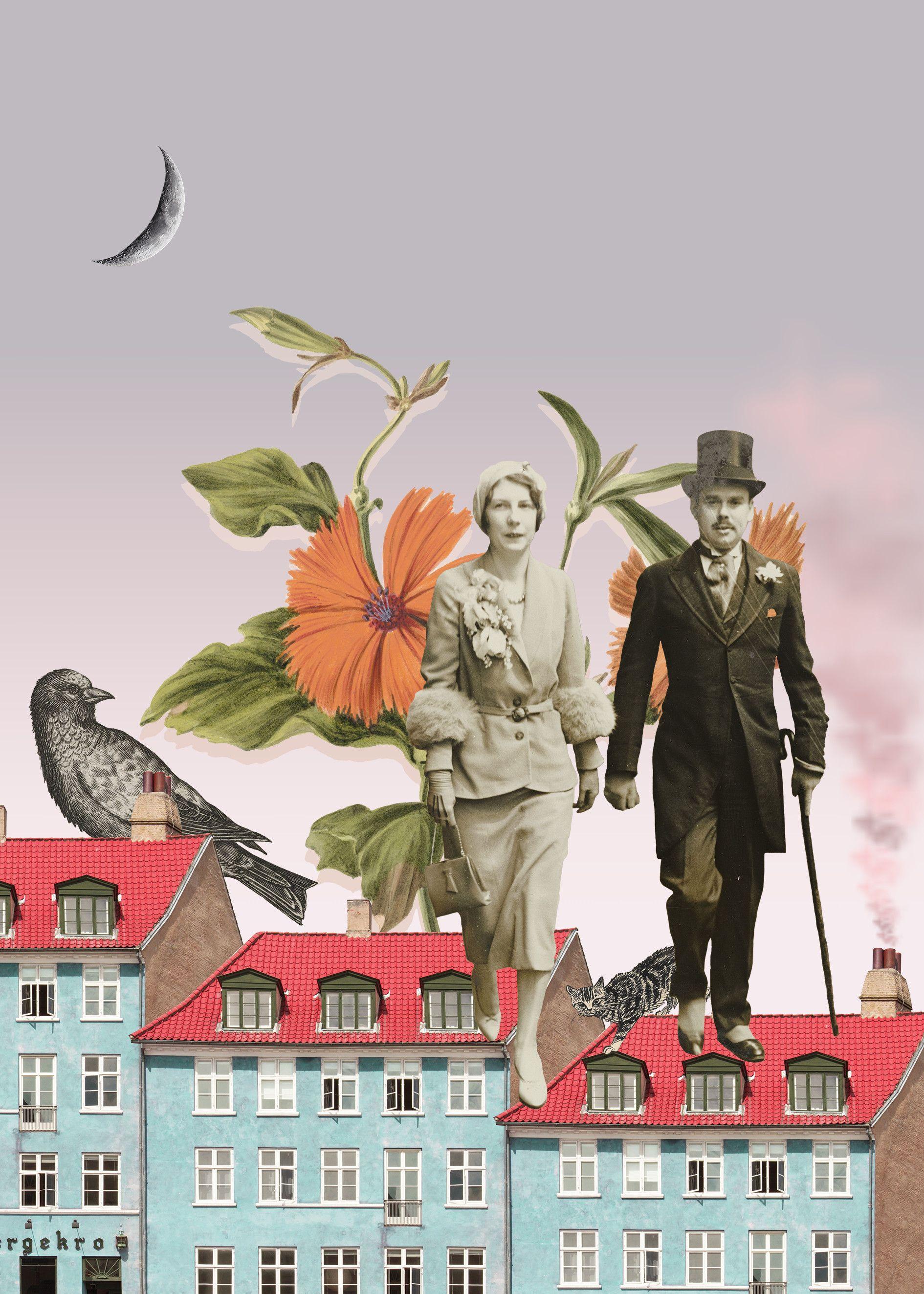 Collage Poster City Kolaz Plakat Dekoracyjny Miasto With