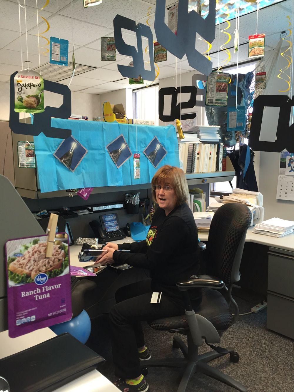 Workers Birthday Tuna Fun Cubicle Decor Office Cube
