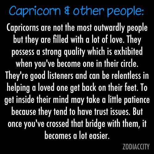 Capricorn and Other People