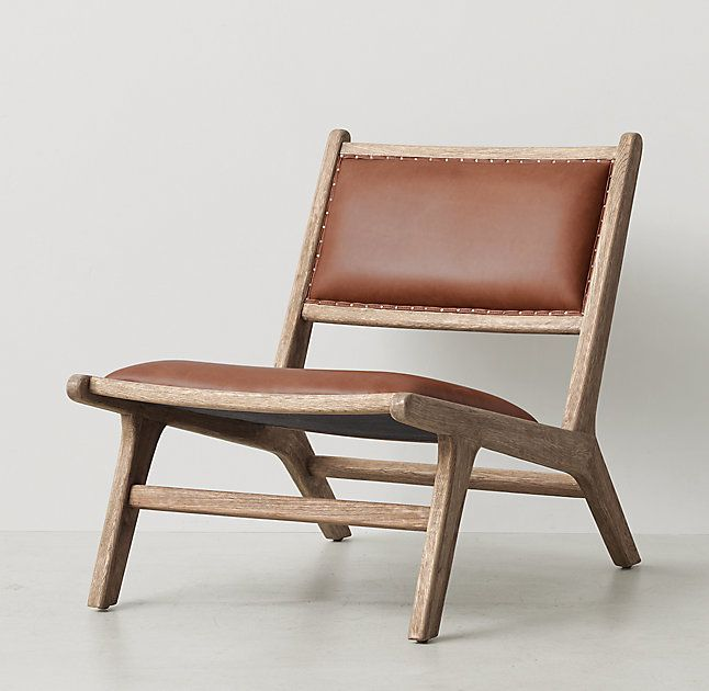 RH TEENu0027s Cantor Leather Lounge Chair:Like The Iconic Midcentury Pieces  That Inspired It, Our Low Profile Lounge Chair Exhibits The Clean Lines And  ...