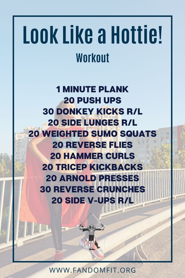 """Try out this """"Look Like a Hottie"""" fitness routine to get your body in shape. FandomFit 