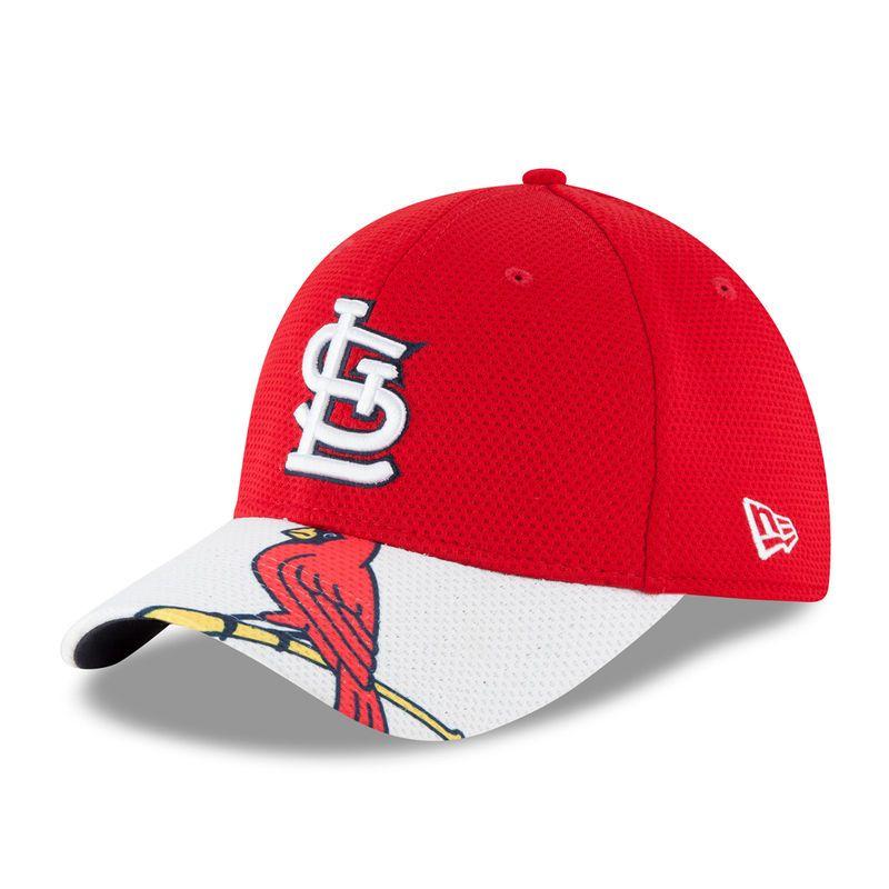 c641aa53d5b St. Louis Cardinals New Era Logo Duel Diamond Era 39THIRTY Flex Hat -  Red White