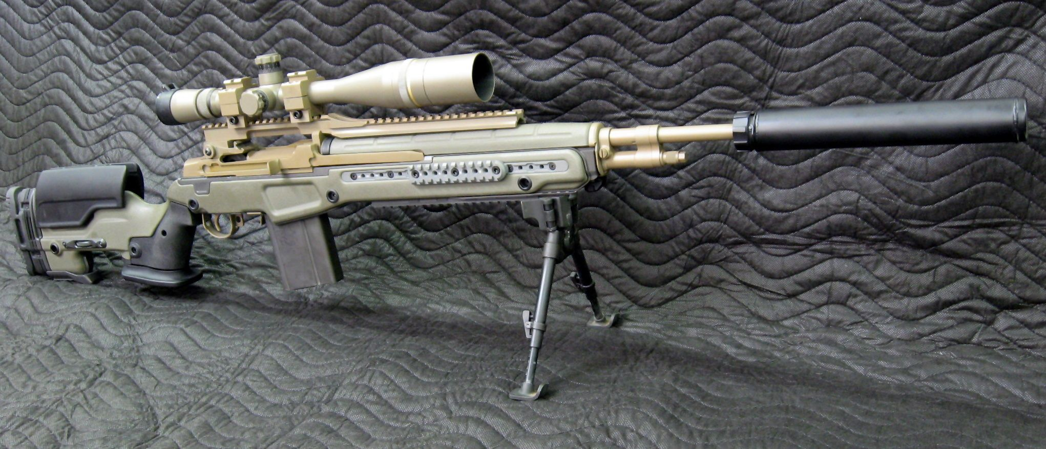 M1A with the JAE custom stock. A fine looking rifle ... M14 Tactical Sniper Rifle