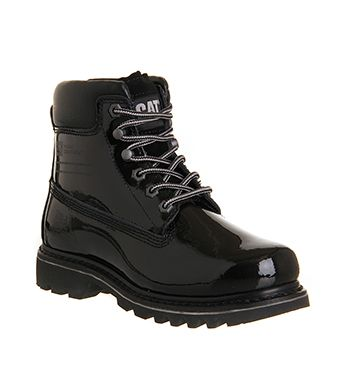 3491f70d Caterpillar Bruiser Boot Black Patent Leather - Ankle Boots  www.office.co.uk -- perfect for the snow and trekking (which I do a lot of  these days...)