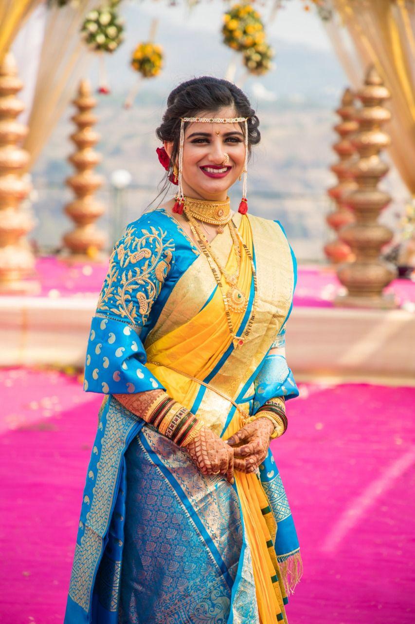 Top 10 Jewellery Fashion Tips For A Maharashtrian Bride Nauvari Saree Wedding Saree Indian Marathi Bride Mostly nauvari sarees are worn for the traditional marathi bridal affairs. nauvari saree wedding saree indian