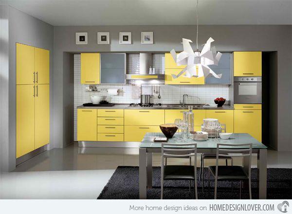 15 Yellow Modular Kitchen Ideas Home Design Lover Yellow Kitchen Decor Yellow Kitchen Cabinets Grey Kitchen Designs