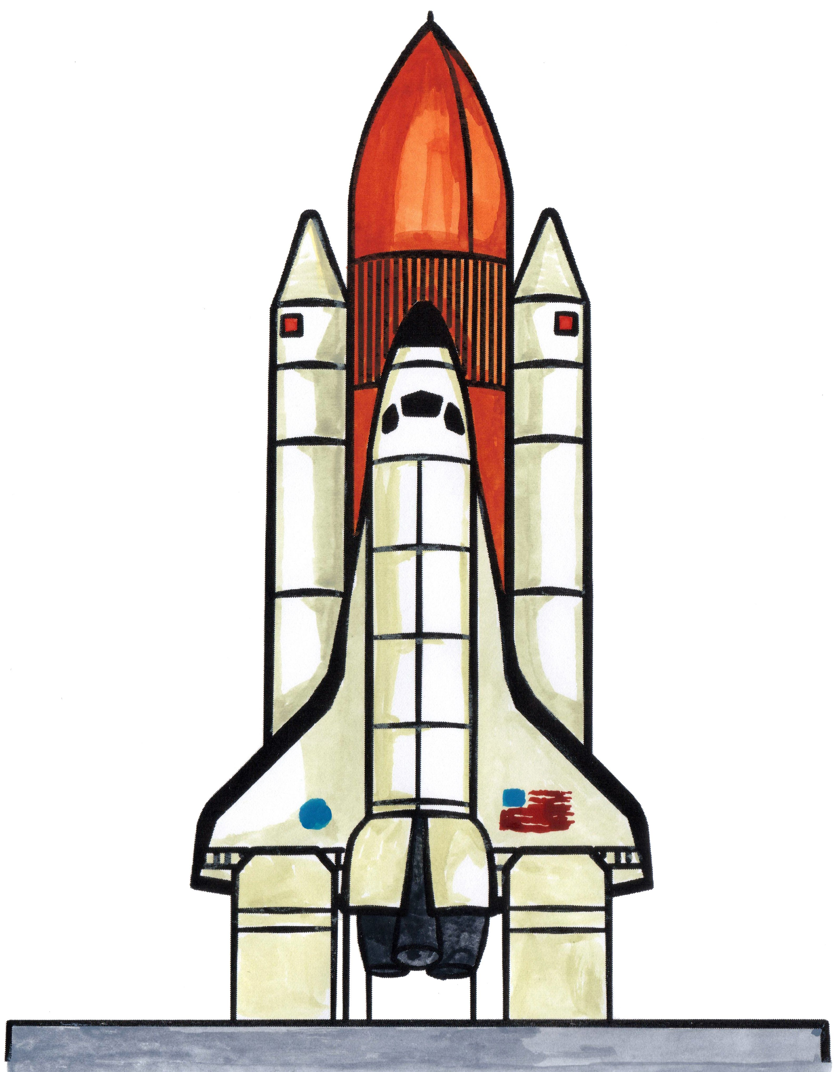 How to draw a space ship, or a space shuttle. | How to ...