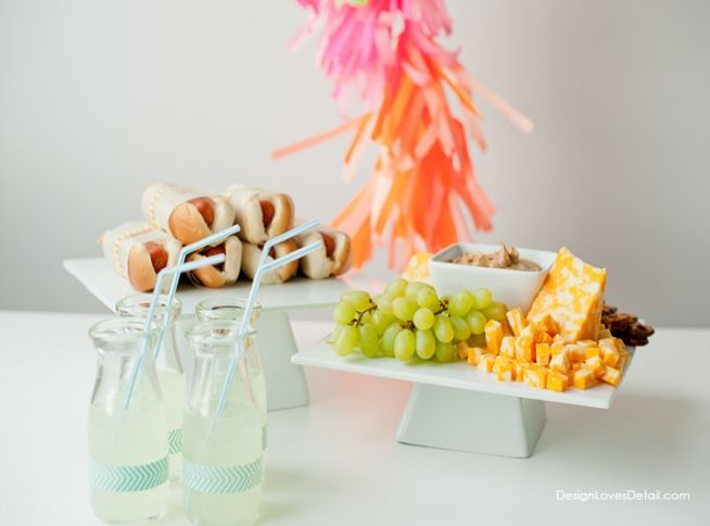 Three Blind Mice Modern Neon Birthday Party Food Ideas By Design Loves Detail