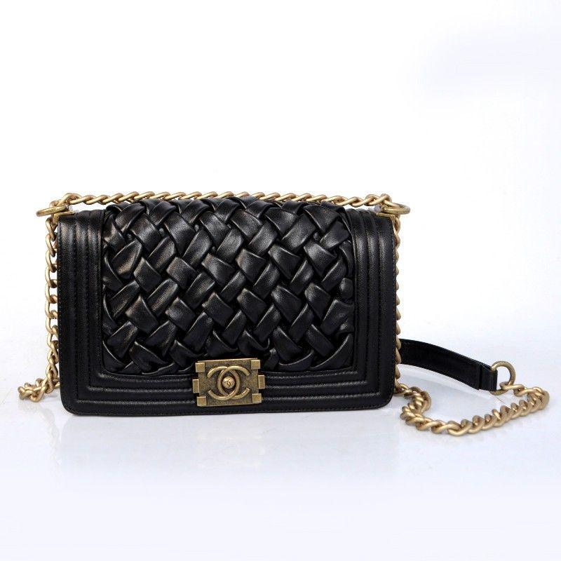 Favori 2013 Braided leather Boy Chanel bag A66017 Black | Fashion  GZ53