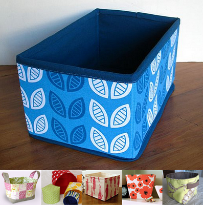 SUPER USEFULL~~~ Surlepetitcheminu0027s Box, Made With This Tutorial From Pink  Penguinu0027s Fabric Basket In A Nutshellu0027s Nesting Boxes Jezzeu0027s  No Interfacing ...