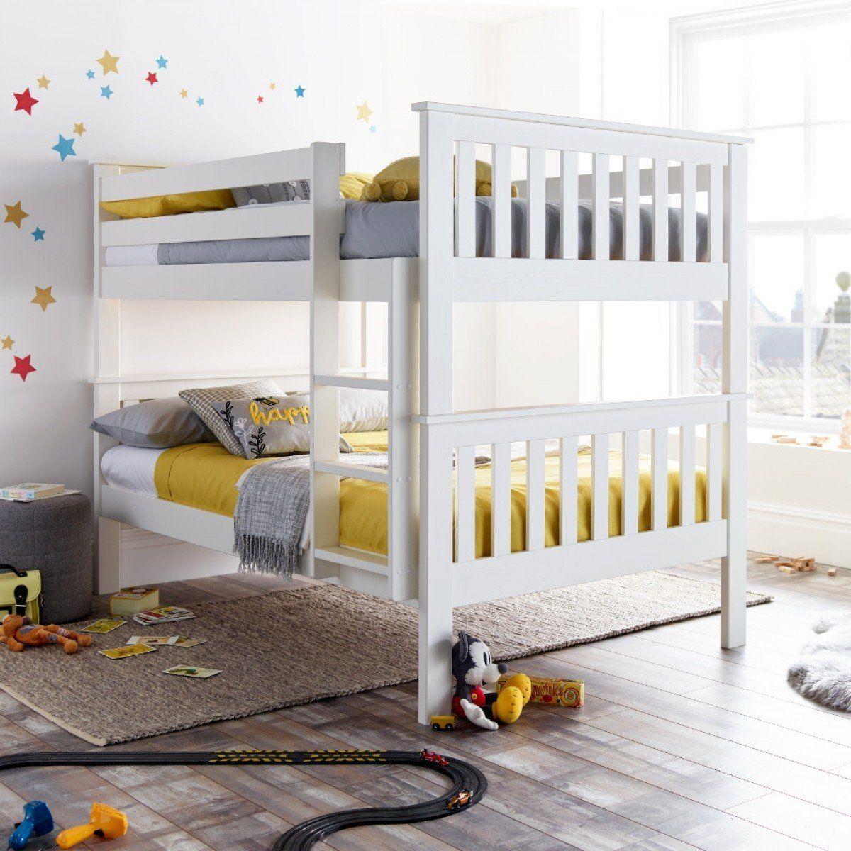 Oslo White Wooden Quadruple Sleeper in 2020 Wooden bunk