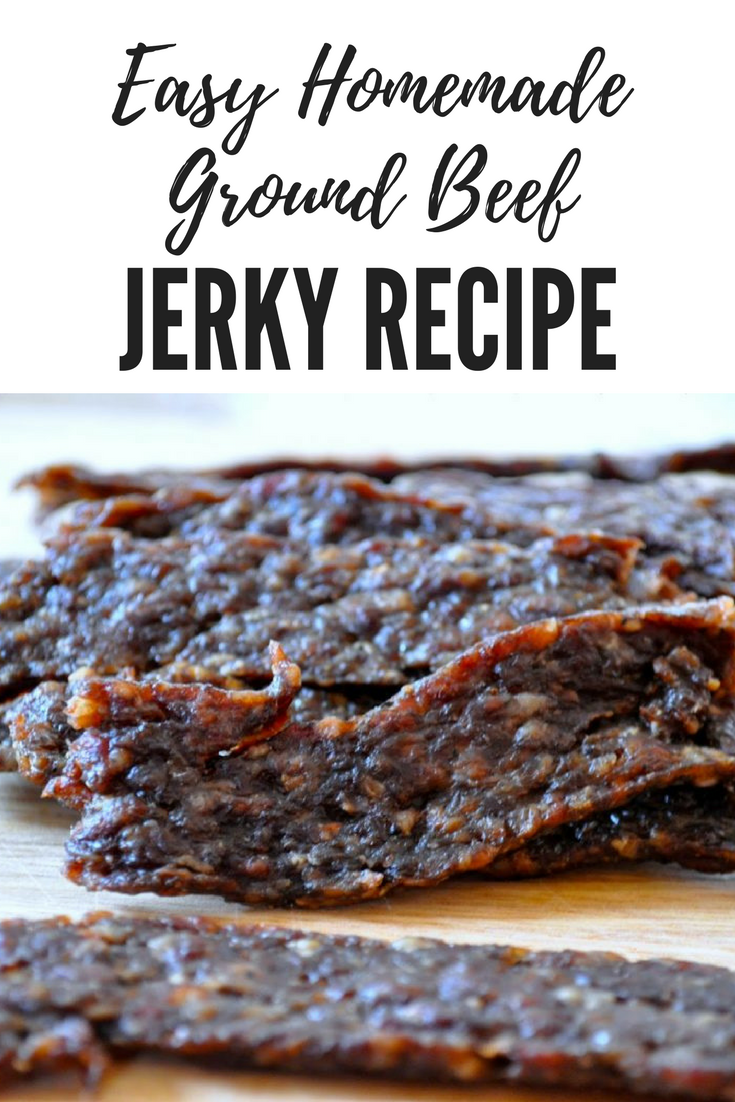This Easy Homemade Ground Beef Jerky Recipe Is Bud Edit Description Beef Jerky Recipes Homemade Ground Beef Jerky Recipe Ground Beef Jerky Recipe