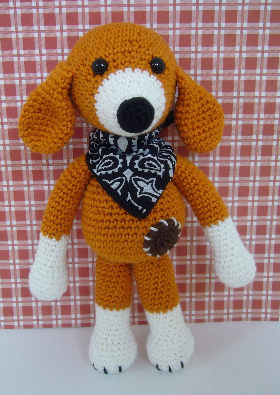 Haken Gratis Patroon Amigurumi Hond Knuffel Crochet Free