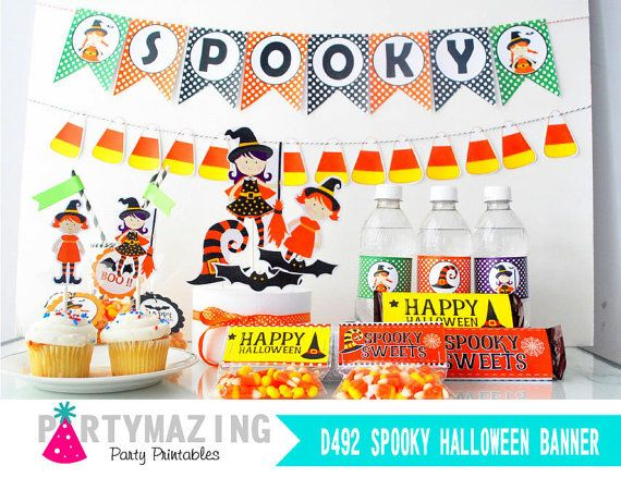 Halloween Printable Party Full Halloween Spooky by Partymazing