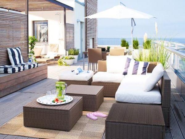 ideen für gartenmöbel ikea rattan gartnitur Terrasse Pinterest - ideen terrasse outdoor mobeln