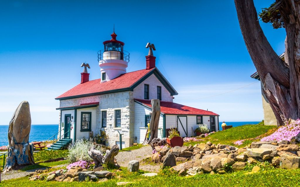 Battery Point Lighthouse Crescent City Ca Jigsaw Puzzle