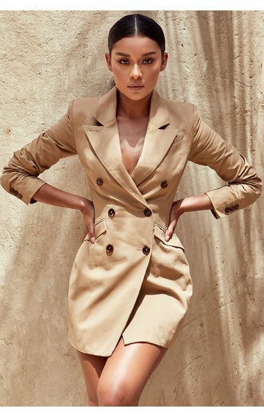 97baebf07bf Clothing   Structured Dresses    Elexis  Camel Tailored Blazer Dress ...