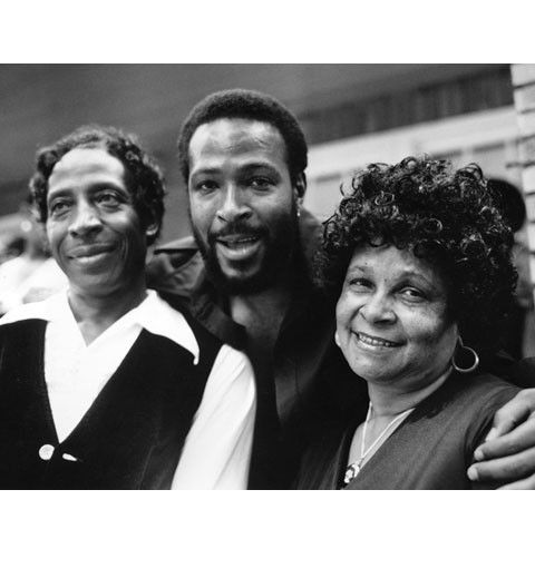 Marvin Gaye pauses for a family photo with his mother and father ...