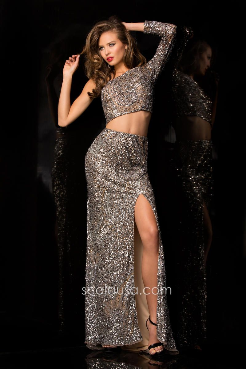 Scala evening gown. Pageant gown. Military ball dress. Two-piece ...