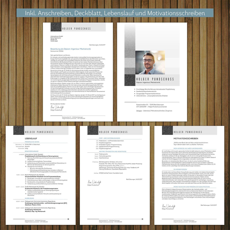 Bewerbungsvorlage Kompetent Download Als Word Datei Lebenslauf Anschreiben Bewerbung Design