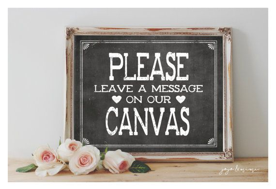 Instant 'Please leave a message on our Canvas' by JoJoMiMi on Etsy